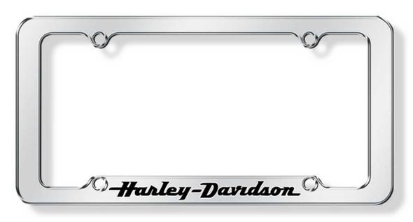 Harley-Davidson H-D Black Letters Script Auto License Tag Frame CG6305 - Wisconsin Harley-Davidson