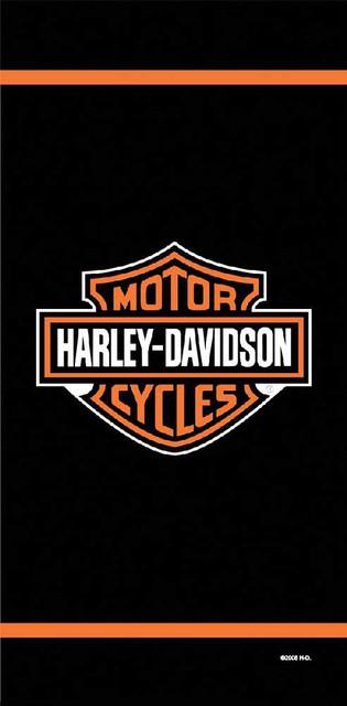 Harley-Davidson Logo and Stripe Beach Towel 11116 - Wisconsin Harley-Davidson