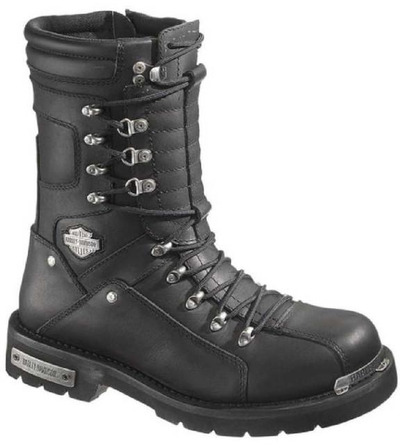 Harley-Davidson Wolverine Men's Alsten 9.5-Inch Black Boots D96018 - Wisconsin Harley-Davidson