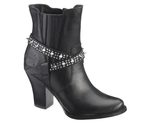 Harley-Davidson Women's Riann 5-Inch Black Dress Boots. 3-Inch Heels. D83673 - Wisconsin Harley-Davidson