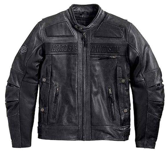 Harley-Davidson Men's 3 Vent STEALTH Distressed Black Leather Jacket. 97033-15VM - Wisconsin Harley-Davidson