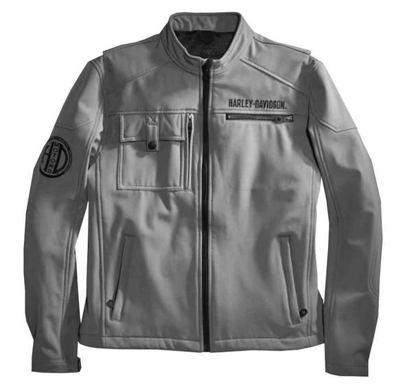 Harley-Davidson Men's Wayfarer Windproof Soft Shell Jacket, Gray 97550-16VM - Wisconsin Harley-Davidson