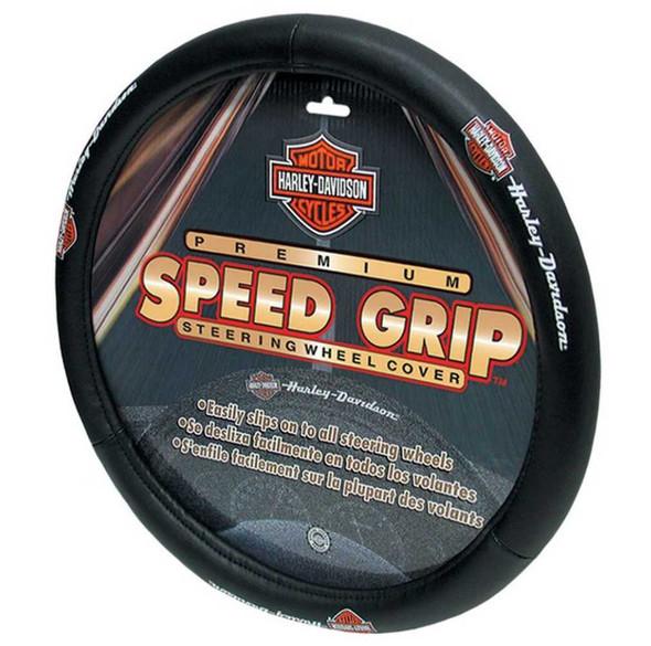Harley-Davidson Bar & Shield H-D Script Speed Grip Steering Wheel Cover P6393 - Wisconsin Harley-Davidson