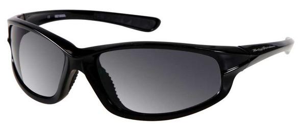 Harley-Davidson Men's Sun Lifestyle Shiny Black,Grey Lens Sunglasses HDS601BLK-3 - Wisconsin Harley-Davidson