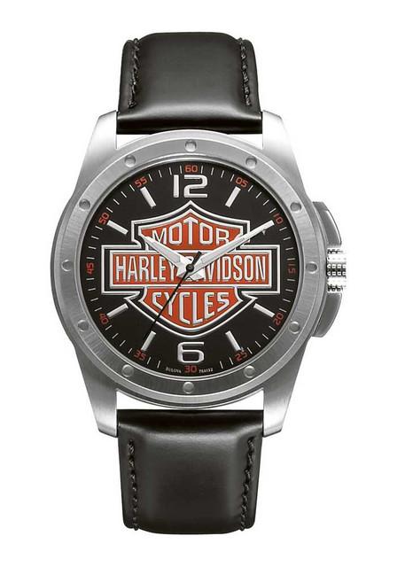 Harley-Davidson Men's Bulova Bar & Shield Wrist Watch 76A132 - Wisconsin Harley-Davidson