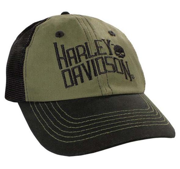 Harley-Davidson Olive Drab H-D Logo Baseball Cap BC120453 - Wisconsin Harley-Davidson