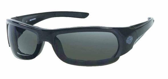 Harley-Davidson Mens Gloss Black Frame Smoke Lens Spoiler Sunglasses HDS701BLK-3 - Wisconsin Harley-Davidson