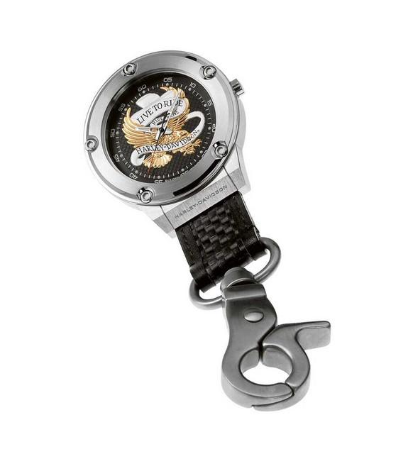 Harley-Davidson Men's Bulova Golden Eagle Pocket Watch 76A136 - Wisconsin Harley-Davidson