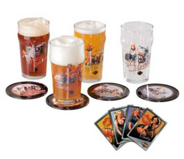 Harley-Davidson American Beauty Pub Glass Gift Set HDL-18718 - Wisconsin Harley-Davidson