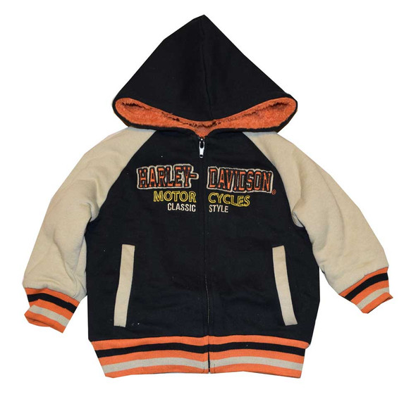 Harley-Davidson Little Boys' Fleece Sweatshirt, Sherpa Lined Hoodie 3371480 - Wisconsin Harley-Davidson