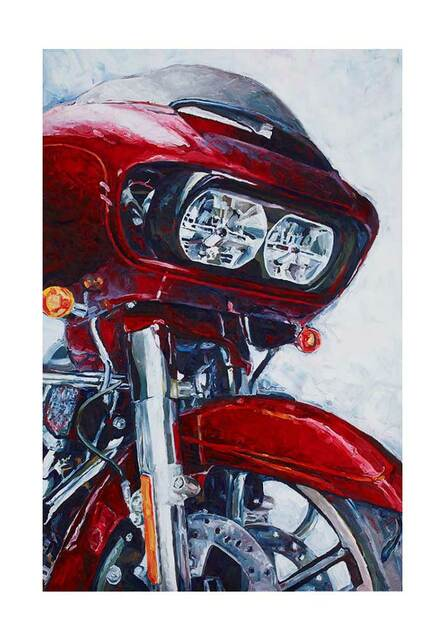 Harley-Davidson Road Glide Poster, Watercolor Motorcycle, 24 x 36 in ZHDFA0105 - Wisconsin Harley-Davidson