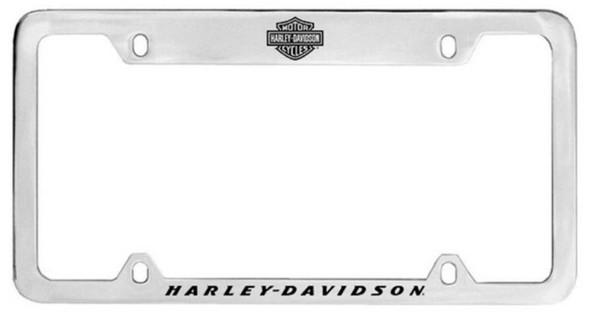 Harley-Davidson H-D Block Script License Plate Frame Chrome HDLF22-U - Wisconsin Harley-Davidson