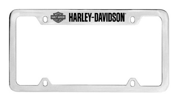 Harley-Davidson Bar & Shield H-D License Plate Frame Chrome HDLF18-U - Wisconsin Harley-Davidson