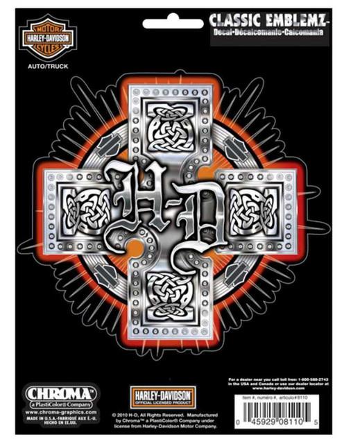 Harley-Davidson H-D Celtic Cross Classic Graphix Decal 5.5 x 5.5 Inch CG8110 - Wisconsin Harley-Davidson