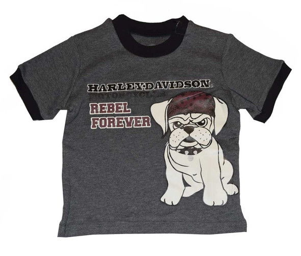 Harley-Davidson Baby Boys' T-Shirt, Rebel Bulldog Short Sleeve Tee 4361550 - Wisconsin Harley-Davidson