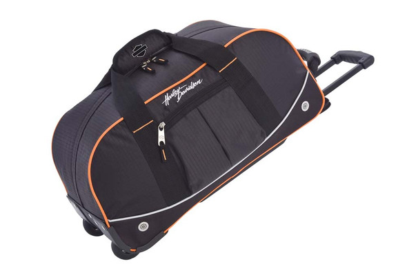 Harley-Davidson 21'' Wheeling Packaged Duffel, Black/Orange 99611 - Wisconsin Harley-Davidson