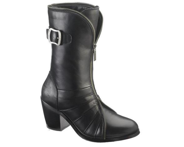 Harley-Davidson Women's Glenna 8-Inch Black Dress Boots. D83682 - Wisconsin Harley-Davidson