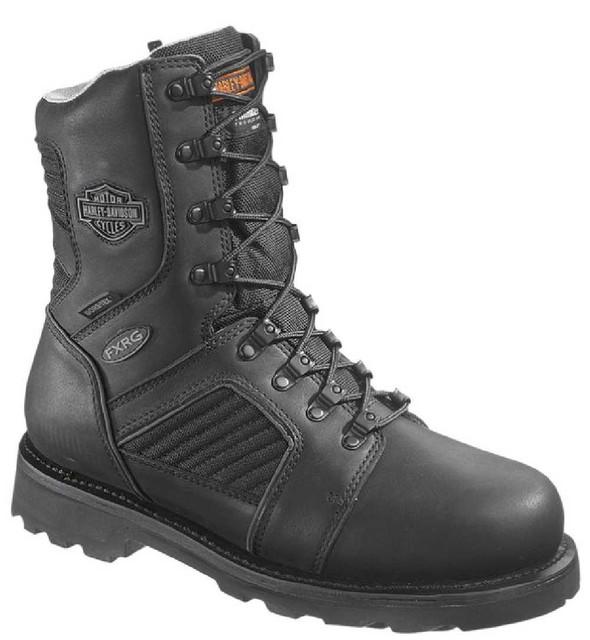 Harley-Davidson Men's FXRG-5 Functional Waterproof Black Leather Boots D98012 - Wisconsin Harley-Davidson