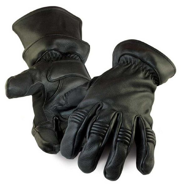 Northstar Mens Deerskin Gauntlet Cycle Glove (Unlined), Removable Cuff 037B - Wisconsin Harley-Davidson