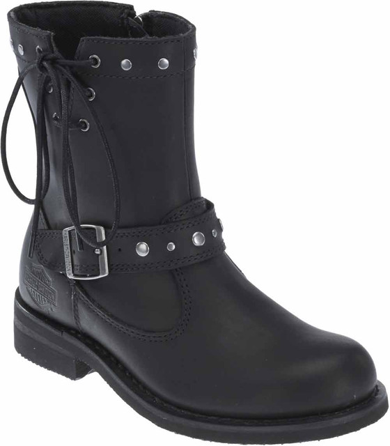 "Harley-Davidson Women's Relaina 6.5"" Motorcycle Boots. Black or Brown D87075 - Wisconsin Harley-Davidson"