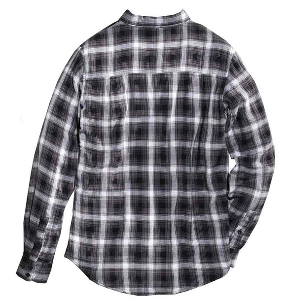 Harley-Davidson Men's Lightweight Flannel Plaid Long Sleeve Shirt 96432-16VM - Wisconsin Harley-Davidson