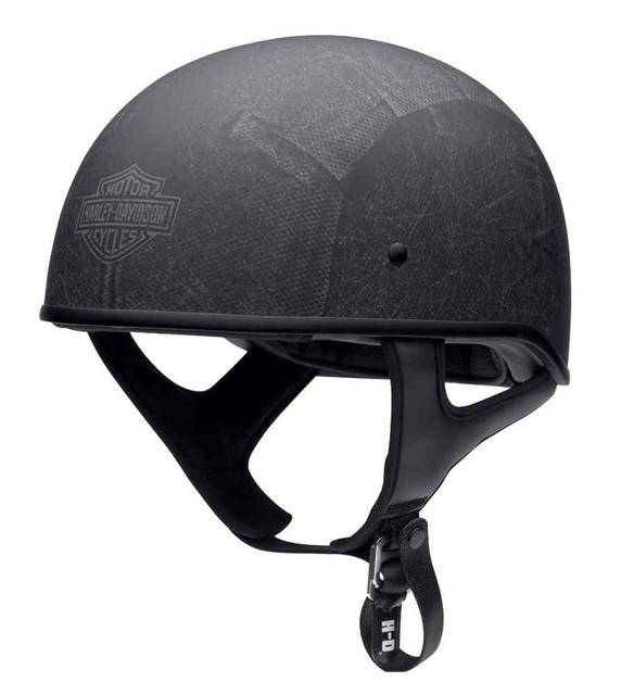 Harley-Davidson Men's Knave Low-Profile Half Helmet, Charcoal 97346-16VM - Wisconsin Harley-Davidson