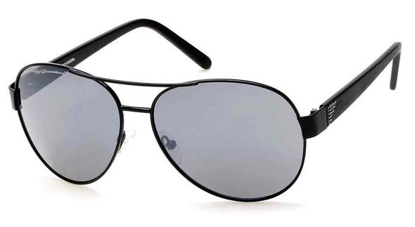 Harley-Davidson Women's Crystal Aviator Sunglasses, Black Frames & Smoke Lens - Wisconsin Harley-Davidson
