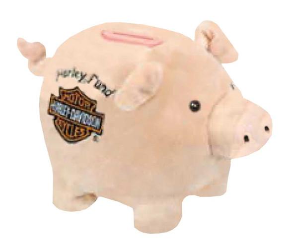 Harley-Davidson Kids Embroidered Harley Fund Hoggy Piggy Bank, 6.5 inches 20389 - Wisconsin Harley-Davidson