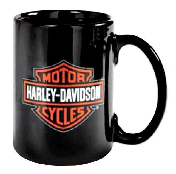 Harley-Davidson Bar & Shield Logo Ceramic Coffee Mug, 15 oz. Black 99214-16V - Wisconsin Harley-Davidson