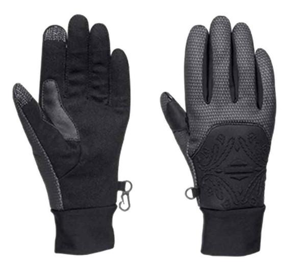 Harley-Davidson Women's Instigator Waterproof Neoprene Gloves, Black 97349-16VW - Wisconsin Harley-Davidson