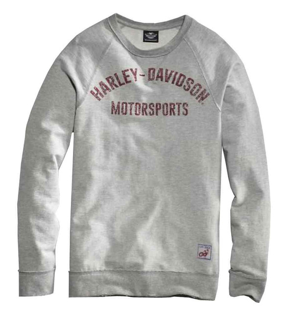 Harley-Davidson Men's Black Label Pullover Raw-Edge Sweatshirt, Gray 99005-16VM - Wisconsin Harley-Davidson