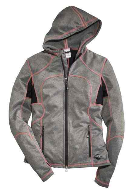 Harley-Davidson Women's Genesee Mid-Layer Casual Jacket, Gray 97571-16VW - Wisconsin Harley-Davidson