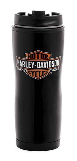 Harley-Davidson Bar & Shield Logo Travel Mug, Stainless Steel, 16 oz. 99222-16V - Wisconsin Harley-Davidson