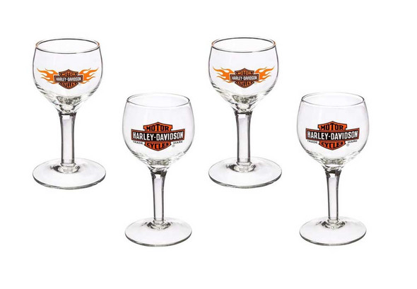 Harley-Davidson Bar & Shield Logo Cordial Shot Glass Gift Set, 4-Pack 3CGS4900 - Wisconsin Harley-Davidson