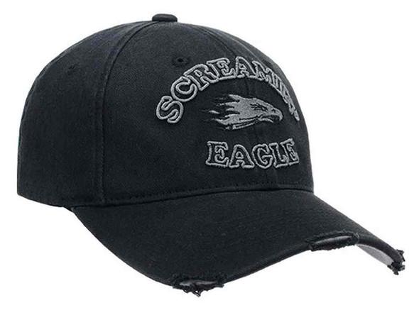Harley-Davidson Men's Screamin' Eagle Tonal Eagle Baseball Cap, Black HARLMH0284 - Wisconsin Harley-Davidson