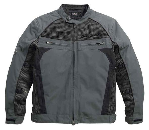 Harley-Davidson Men's Utilitarian Textile & Mesh Riding Jacket, Black 97124-16VM - Wisconsin Harley-Davidson