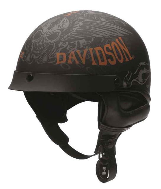 Harley-Davidson Mens Arcadia Ultra-Light J02 Half Helmet, Matte Black 97356-16VM - Wisconsin Harley-Davidson
