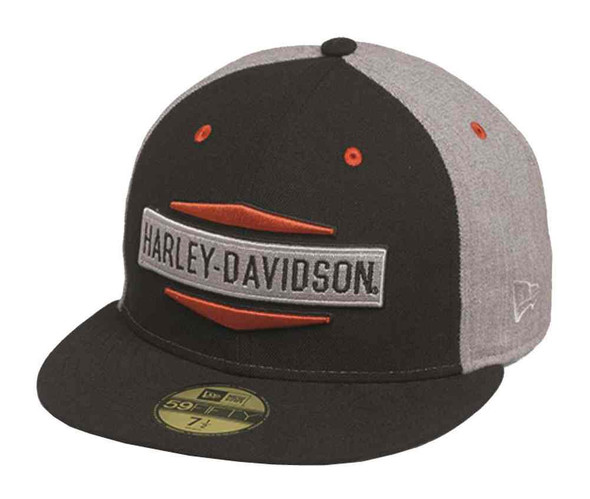 Harley-Davidson Men's Embroidered Logo 59FIFTY Flat Brim Cap 97710-16VM - Wisconsin Harley-Davidson