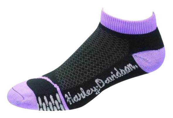 Harley-Davidson Wolverine Womens CoolMax Low Cut Rider Sock Purple D89085070-500 - Wisconsin Harley-Davidson