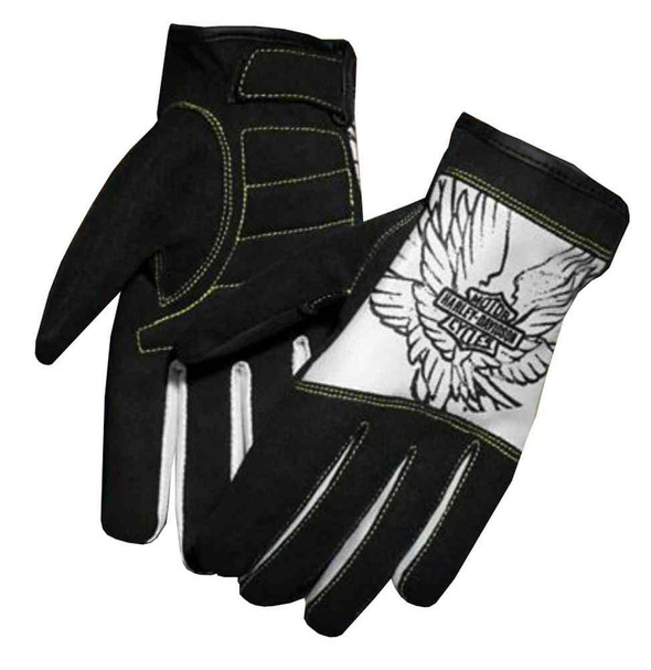 Harley-Davidson Women's Harpy Amara & Mesh Full-Finger Gloves, Black 97360-16VW - Wisconsin Harley-Davidson