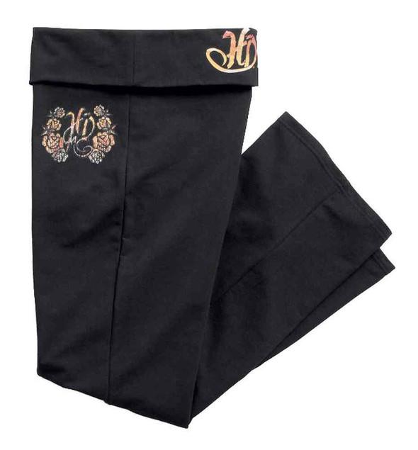 Harley-Davidson Women's Glitter Printed Cotton Sleep Pants, Black 97891-16VW - Wisconsin Harley-Davidson