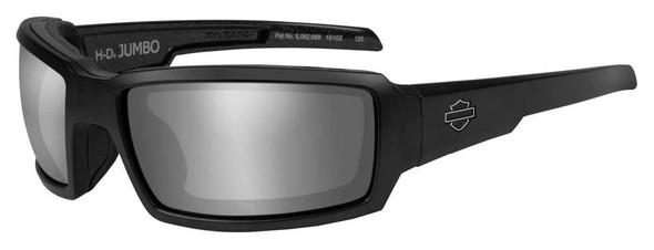 Harley-Davidson Men's Jumbo Sunglasses, Silver Flash Lens / Black Frame HDJUM04 - Wisconsin Harley-Davidson