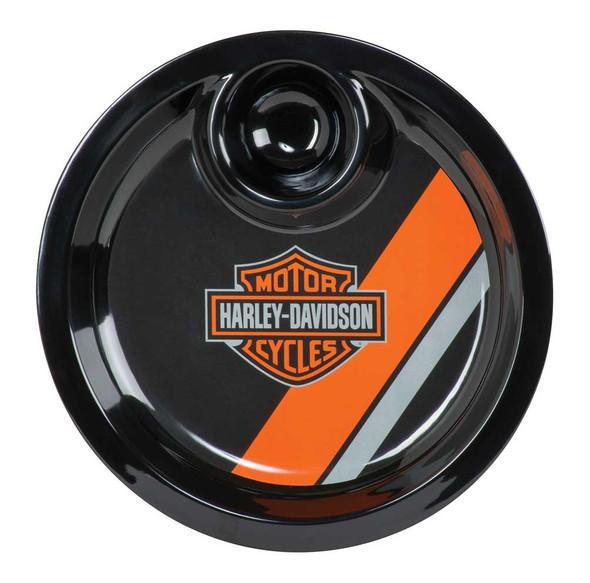 Harley-Davidson Bar & Shield Two-in-One Chip & Dip Tray, Black HDL-18562 - Wisconsin Harley-Davidson