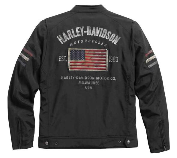 Harley-Davidson Men's Colton Moto Casual Canvas Jacket, Black 97577-16VM - Wisconsin Harley-Davidson
