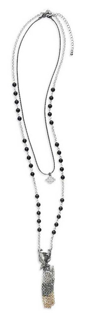 Harley-Davidson Women's 3-IN-1 Multi Necklace, Plated Zinc Chains 97898-16VW - Wisconsin Harley-Davidson