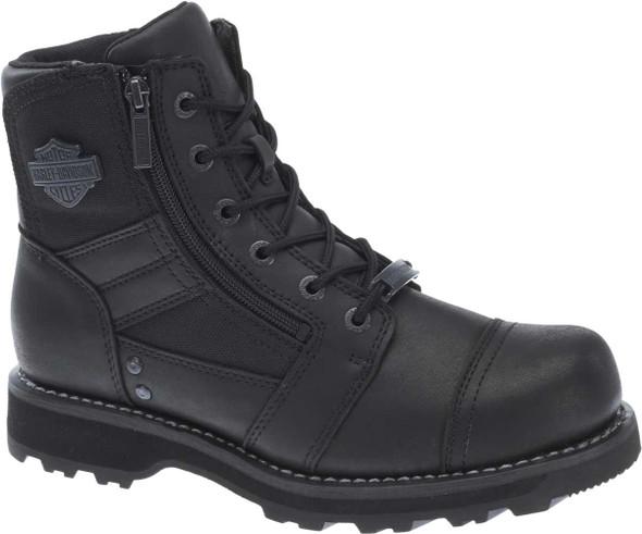 Harley-Davidson Men's Bonham 6.25-Inch Blacked-Out Motorcycle Boots D93369 - Wisconsin Harley-Davidson