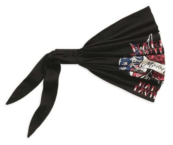 Harley-Davidson Women's Custom Patriotic Art Knit Headwrap, Black 97757-16VW - Wisconsin Harley-Davidson