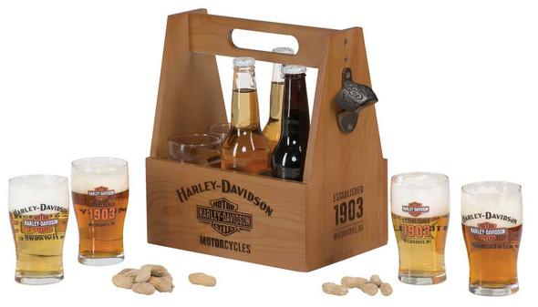 Harley-Davidson Motorcycles Bar & Shield Wooden Crate Carrier Set HDL-18762 - Wisconsin Harley-Davidson