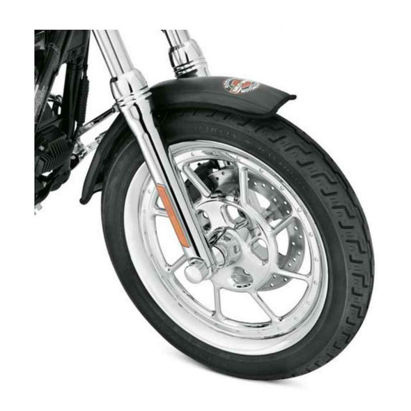 Harley-Davidson Bar & Shield Small Front Fender Service Cover, Black 94643-08 - Wisconsin Harley-Davidson