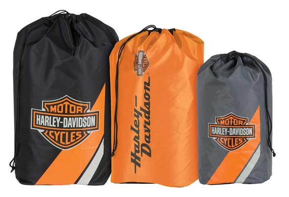 Harley-Davidson Bar & Shield Stuff Sacks, Durable Nylon, 3-Pack HDL-10019 - Wisconsin Harley-Davidson